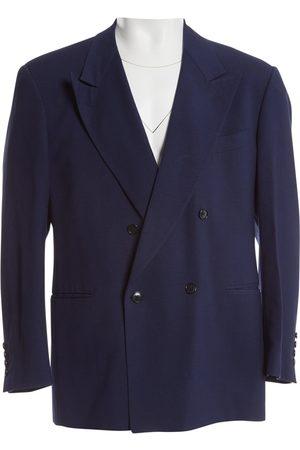 Lanvin Men Jackets - Navy Wool Jackets