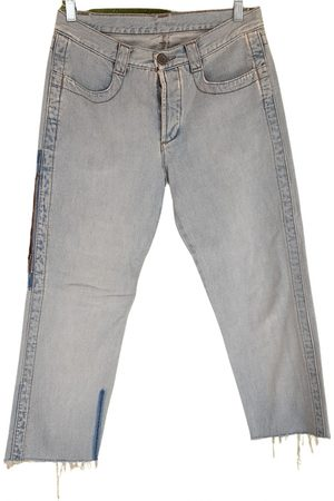 DIRK BIKKEMBERGS Turquoise Cotton Jeans