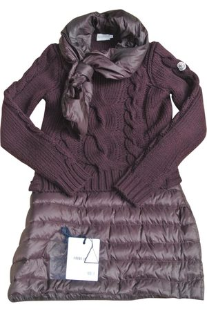 Moncler Burgundy Wool Dresses