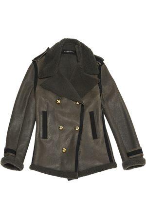 ALEXANDRE VAUTHIER Grey Suede Coats