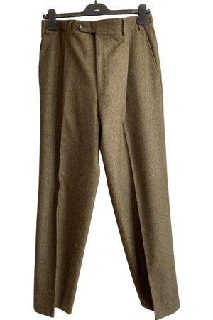 CANALI Khaki Wool Trousers