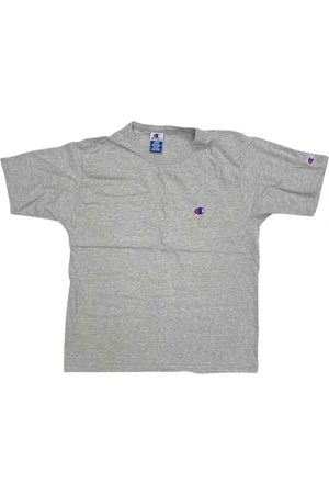 Champion Men T-shirts - Grey Cotton T-shirt