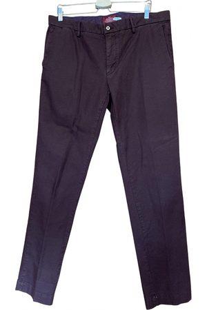 Mason Garments Burgundy Cotton Trousers