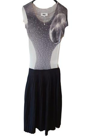 MM6 Anthracite Cotton Dresses