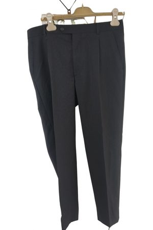 Carven Men Pants - Anthracite Wool Trousers