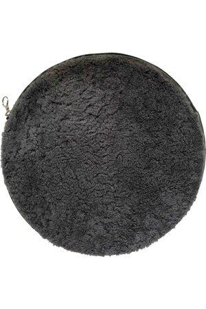 KARA Grey Leather Clutch Bags