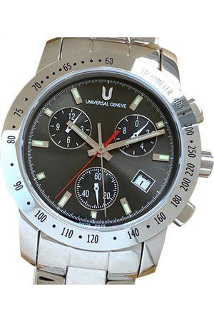 Universal Geneve Grey Steel Watches