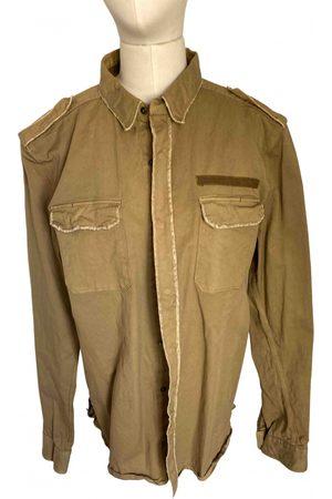 Costume National Khaki Cotton Shirts