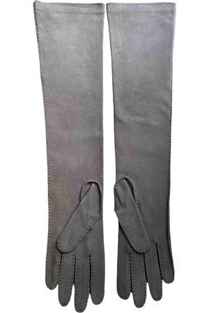 Marni Grey Suede Gloves
