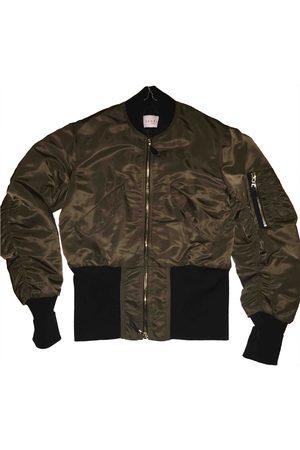 Sandro Women Leather Jackets - Khaki Leather Jackets