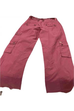 Miss Me Burgundy Cotton Trousers