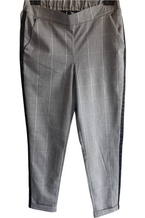 Calzedonia Grey Cotton Trousers