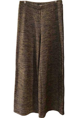 Gotha Women Pants - Metallic Wool Trousers