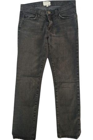 Current/Elliott Grey Cotton Jeans
