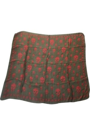 Alexander McQueen Khaki Silk Scarves