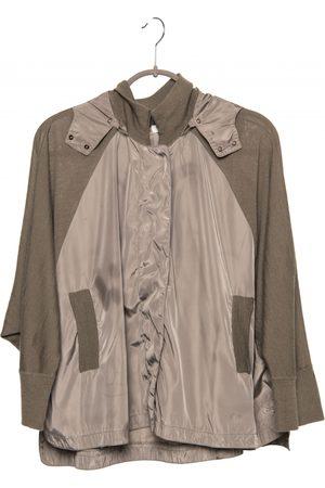 Hoss Intropia Khaki Wool Leather Jackets