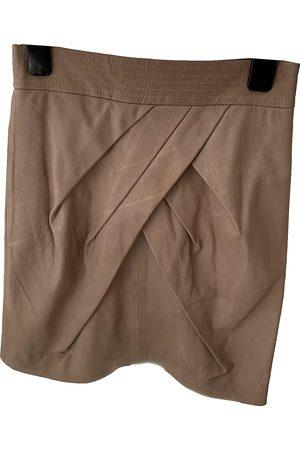 Diane von Furstenberg Women Mini Skirts - Leather mini skirt