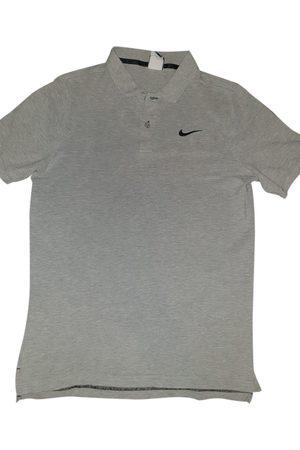 Nike Grey Cotton Polo Shirts