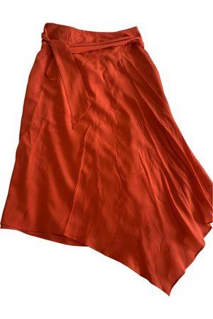 KITRI Silk mid-length skirt