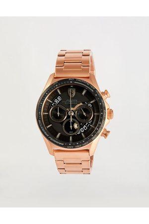 FERRARI STORE Rose gold steel chronograph Pilota Evo watch with black dial