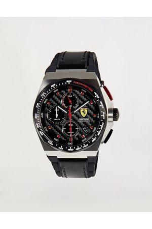FERRARI STORE Steel Aspire chronograph watch with carbon-fiber effect dial