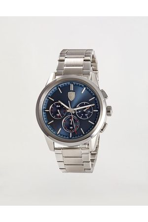 FERRARI STORE Steel Grand Tour watch with blue dial