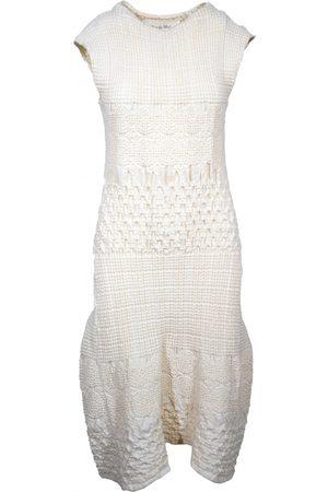 RUE DU MAIL Ecru Wool Dresses