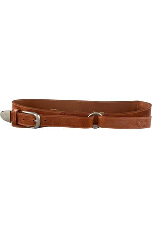 Oscar de la Renta Ecru Leather Belts