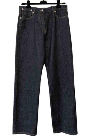 DRIES VAN NOTEN Men Jeans - Navy Cotton Jeans