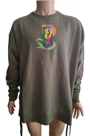 FAITH CONNEXION Men Sweatshirts - Khaki Cotton Knitwear & Sweatshirts