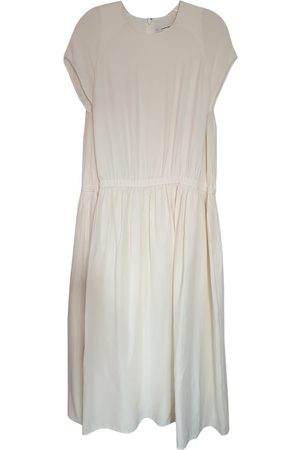 Carven Women Dresses - Ecru Silk Dresses