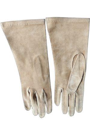 Hermès Camel Leather Gloves