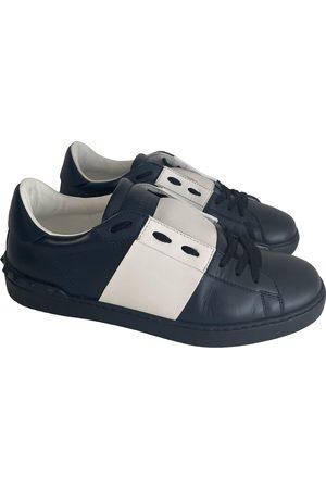 VALENTINO GARAVANI Men Sneakers - Navy Leather Trainers