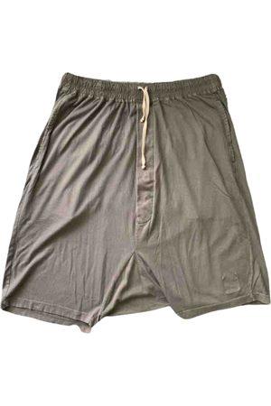 Rick Owens Grey Cotton Shorts