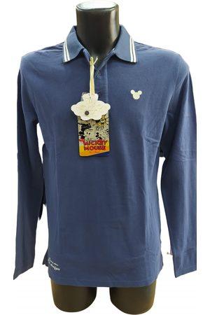 Disney Men Polo Shirts - Navy Cotton Polo Shirts