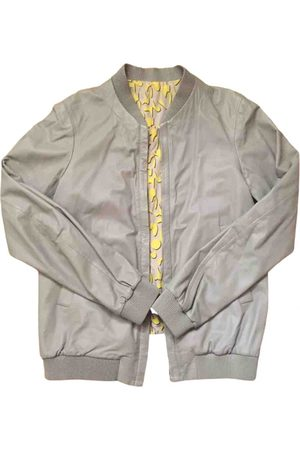 Jil Sander Grey Leather Jackets