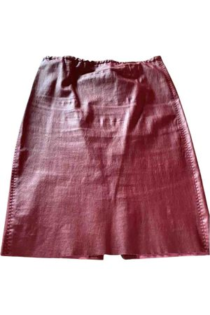 Stouls Women Leather Skirts - Leather mid-length skirt