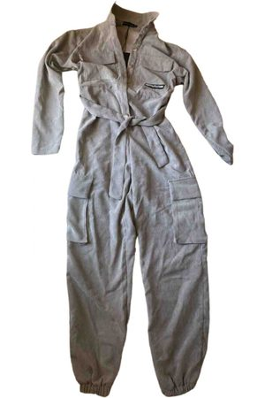 Pretty Little Thing Grey Polyester Jumpsuits