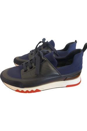 Hermès Navy Polyester Trainers