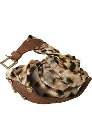 Roberto Cavalli Camel Silk Belts