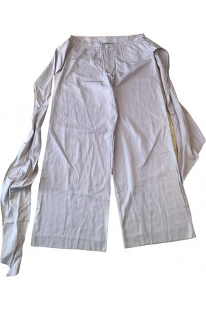 Issey Miyake Grey Cotton Trousers