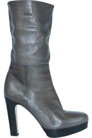Miu Miu Leather western boots