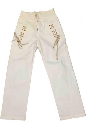 Chloé Ecru Cotton Trousers