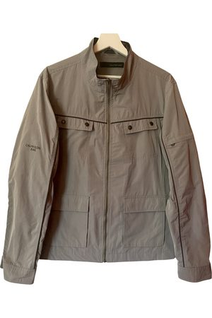 Calvin Klein Grey Polyester Jackets