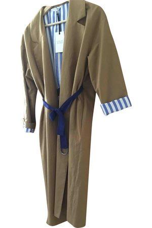 Chloé Stora Women Trench Coats - Camel Cotton Trench Coats