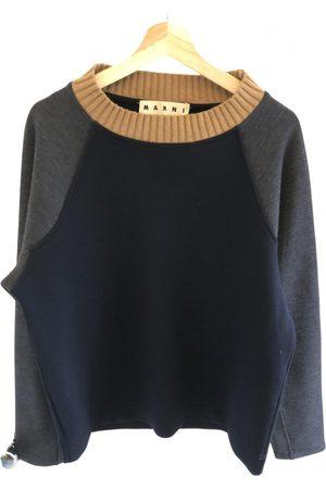 Marni Navy Wool Knitwear & Sweatshirts