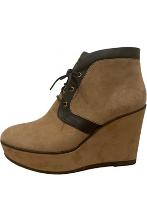 Tod's Camel Suede Ankle Boots