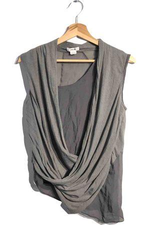 Helmut Lang Grey Cotton Tops