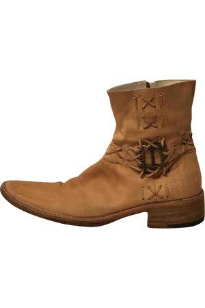 Cesare Paciotti Camel Leather Boots