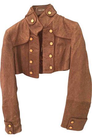 Dolce & Gabbana Grey Leather Leather Jackets